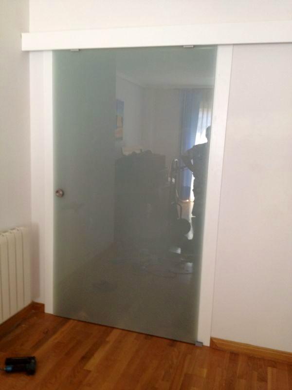 pc puerta corredera vista de cristal acido